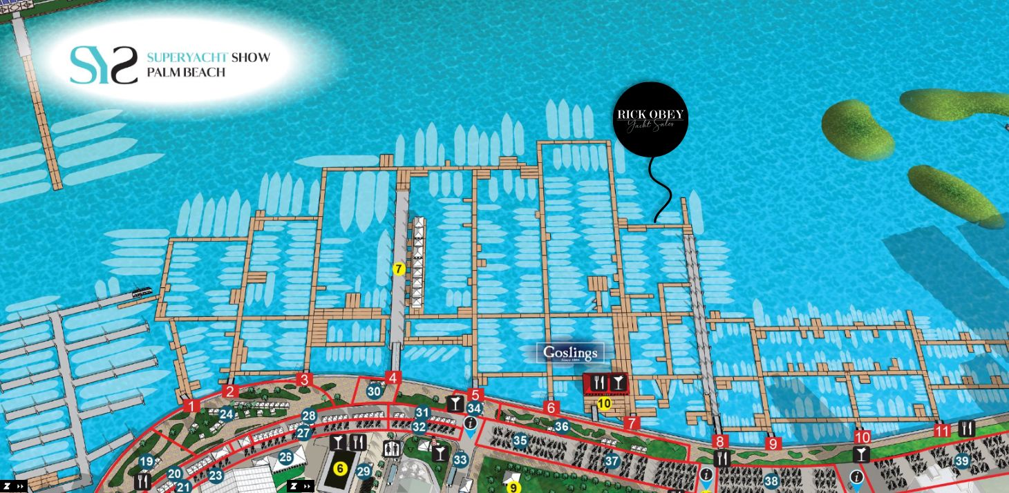 Palm Beach International Boat Show 2021 main map